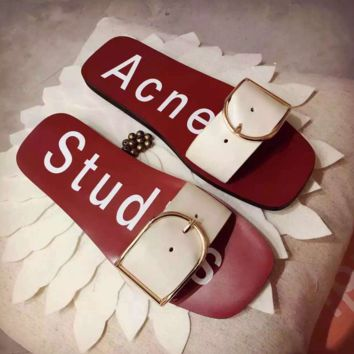 Acne Studios Fashion Women Design Leisure Slippers