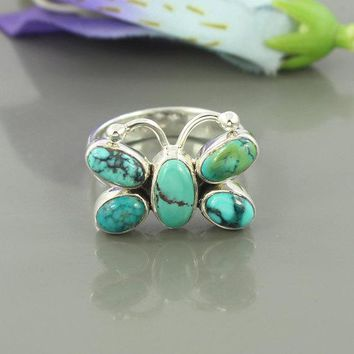 Designer Turquoise Solid 925 Silver Ring