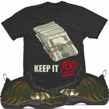 Legion Green Foamposite Sneaker Shirts Match - KEEP IT 100