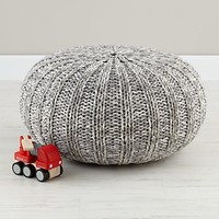 Kids Seating: Grey Variegated Pouf Seater in Poufs & Floor Pillows | The Land of Nod