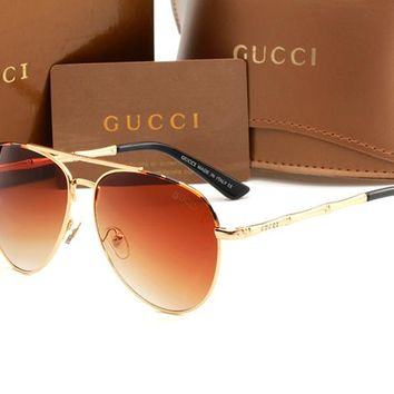 Gucci sunglass AA Classic Aviator Sunglasses, Polarized, 100% UV protection 2974244987 GG4271