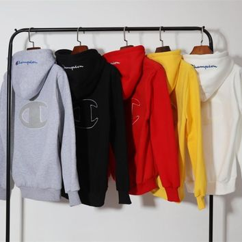 Champion Women/Men Fashion Top Sweater Pullover Hoodie
