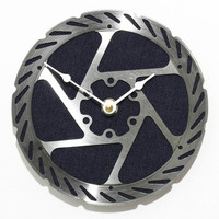 Disk Brake Rotor Wall Clock - Dark Denim Blue