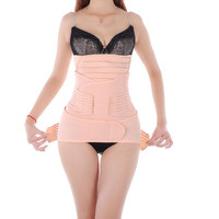 3 in 1 Breathable Elastic Postpartum Postnatal Slim Belt Recovery Support Girdle Belt for Women and Maternity Three Sizes = 1946186564