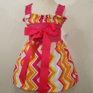 Girls Halter Dress-Chevron--Baby-Toddler--Big Girls--#227