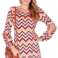 Pixel Button Shift Dress in Multi :: tobi
