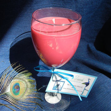 Merlot Scented Natural Soy Candle in Wine Glass