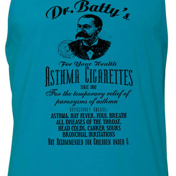 Dr. Battys Asthma Cigarettes (Black) Tank-Top T-Shirt