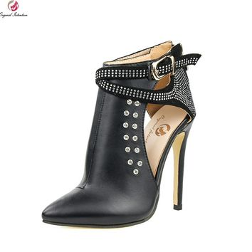 Thin High Heels Boots Black Shoes Woman