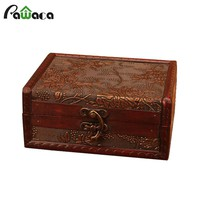 Vintage Treasure Box Treasure Chest Jewellery Storage Box Case Organizer Casket for Gift Box Jewelry Collection Home Decoration