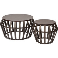 OSP Solana Round Accent Tables, Antique Bronze (2pc Set)