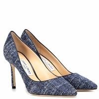 Romy 85 tweed pumps