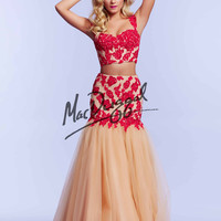 Crop Top Mac Duggal Mermaid Prom Dress 10053M