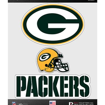 Green Bay Packers Triple Spirit Stickers By Rico