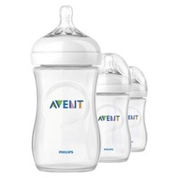 Philips Avent BPA Free Natural 9 Ounce Polypropylene Bottles, 3-Pack