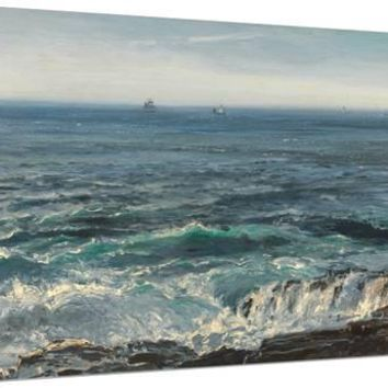 Seascape, 1877 Stretched Canvas Print by Henry Moore at Art.com