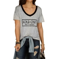 Sale-add To Wishlist Oversize Gray Tee