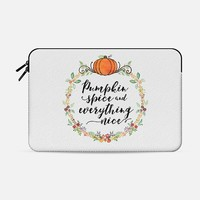 Pumpkin Spice and Everything Nice (sleeve) Macbook Pro Retina 15 sleeve by Noonday Design | Casetify