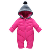 Newborn Baby Girl Clothes Winter Rompers Baby Snowsuit Coat Kids Hooded Down Jacket Warm Infant Snow Wear Boy Clothing Pink 2016