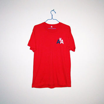 Vintage 80's AMERICAN AIRLINES Screen Stars 50/50 T-Shirt - Size MEDIUM