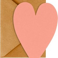 Coral Heart Cards with Antique Gold Envelopes