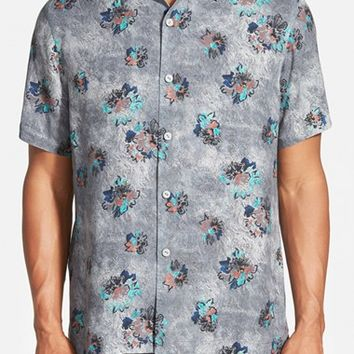 Men's Tommy Bahama 'Piazza Paradise' Island Modern Fit Print Silk Shirt
