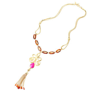 Lilly Pulitzer Gypsy Bohemian Tassel Necklace