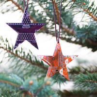Star Christmas ornament - Holiday decor - geeky Christmas