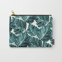 Jungle Leaves Carry-All Pouch by CRYSTAL WALEN
