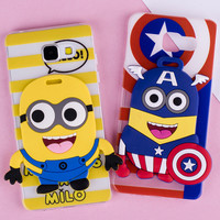 3D Cartoon Silicone Painting Case For Samsung Galaxy S3 S4 S5 S6 S7 Edge Mini J5 J7 A3 A7 A5 2016 Core 2 Grand Prime Cover Cases