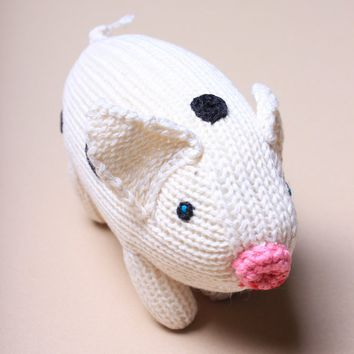 Organic Pig Rattle Baby Toy