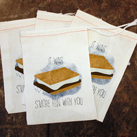 Camping Birthday Party Favor Bags - It Was Smore Fun With You / Candy Goody Bag / Bonfire Party Gift / Kids Camping Party / Boys Treat Bags
