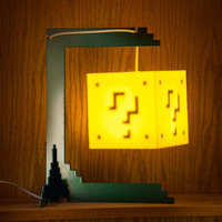 The Question Block Lamp + Stand