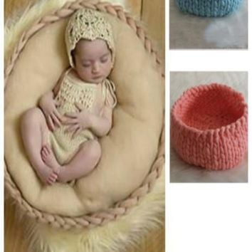 Newborn Posing Bowl Basket Thick Yarn (Multiple Colors Available) - PRKB107
