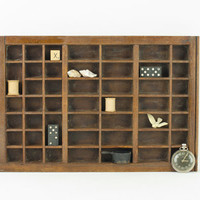 Small Wood Letterpress Drawer / Typeset Tray / Curio Display