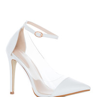 Shut Up And Dance Pumps in White