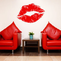 Luscious Lips Kiss Vinyl Wall Decal Sticker B2002