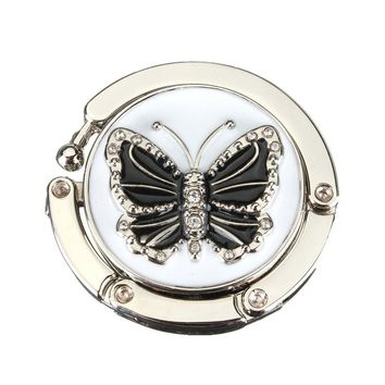 1PC Fashion Originality Lovely Color Butterfly Design Handbag Folding Bag Purse Hook Hanger Holder for gift Beetle Lock Bling 40