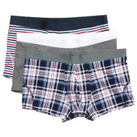 H&M - 3-pack Boxer Shorts - Gray melange - Men