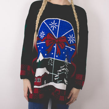 Vintage Window Ugly Christmas Sweater