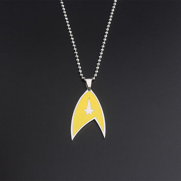 Fashion Jewelry Star Trek Stainless Steel Necklace Pendant fou Men and Women Jewelry