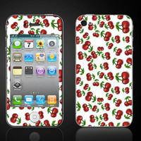 Cherries red cherry  iPhone 4 4S Vinyl Decal Wrap Skin by ItsASkin