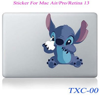 NEW Stitch Cartoon Laptop Skin Sticker Decal For Macbook Air Pro Retina 13 Macbook 13.3 inch