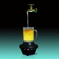 1Piece Magic Faucet Mug LED Floating Water lamp Water Fountain Light Ornament Night Illusion Decor