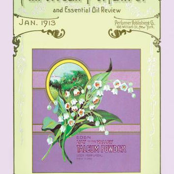 The American Perfumer and Essential Oil Review: Eden Lily of the Valley Talcum Powder 20x30 poster