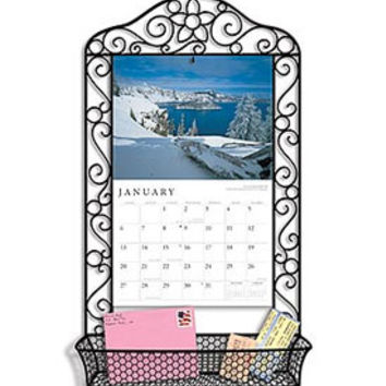 Wrought Iron Calendar Frame - Black