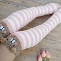 Kawaii Plush Thigh High Stockings
