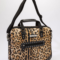 Gold Leopard Media Bag