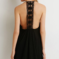 Crochet-Back Cami Dress