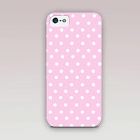 Little Pink/Blue Dots Phone Case For - iPhone 6 Case - iPhone 5 Case - iPhone 4 Case - Samsung S4 Case - iPhone 5C